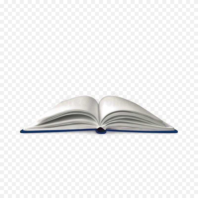 Libro abierto realista Plantilla del libro con white pages Ejemplo del vector aislado en fondo transparente libre illustration