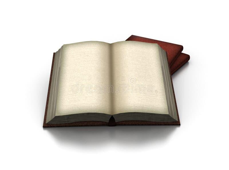 Libro abierto viejo imagen de archivo