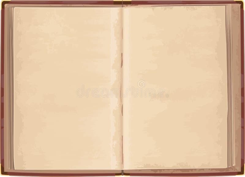 Libro abierto viejo stock de ilustración