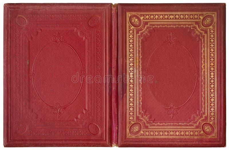 Libro abierto viejo 1870 fotos de archivo libres de regalías