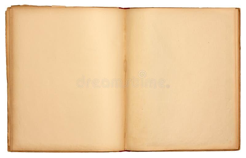 Libro abierto viejo de las paginaciones en blanco