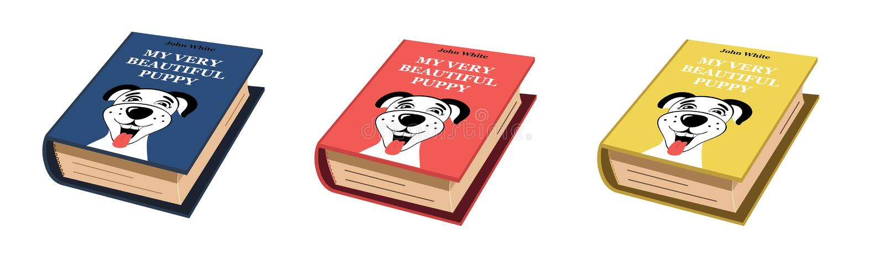 Libro acerca de mi historia del perro stock de ilustración