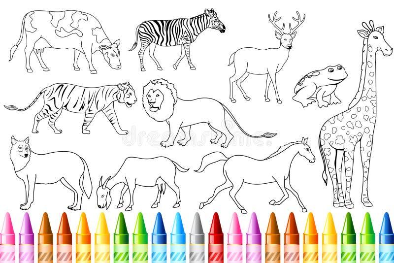 Libro animal del color ilustración del vector