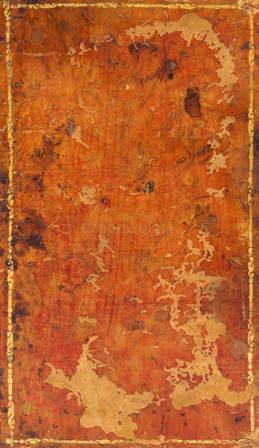 Libro antico con il coperchio di cuoio. fotografia stock