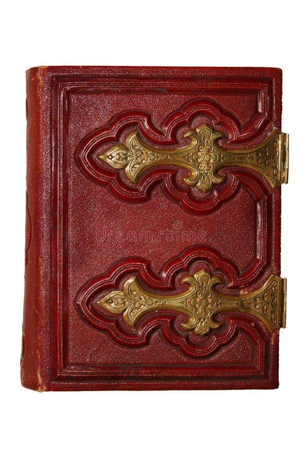 Libro antico rosso fotografie stock libere da diritti