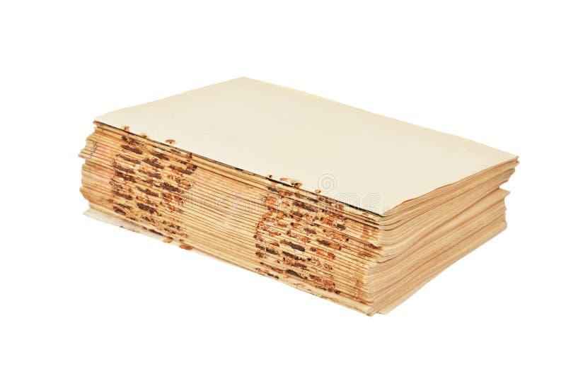 Libro antico senza copertura fotografia stock