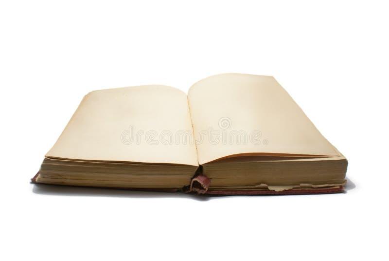 Libro Antico Senza Testo Fotografia Stock
