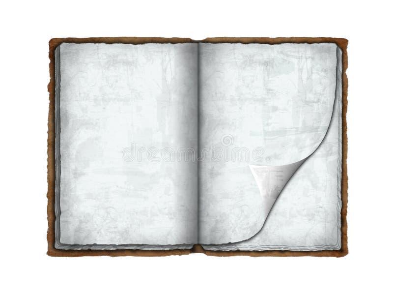 Libro antiguo stock de ilustración