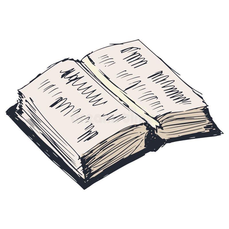 Libro aperto illustrazione di stock