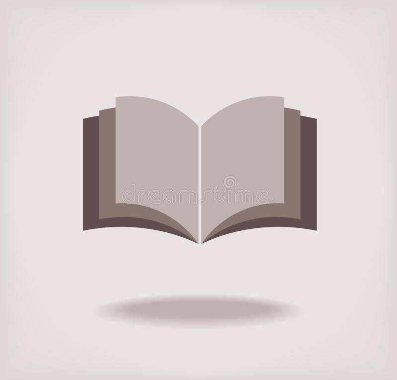 Libro aperto. illustrazione di stock