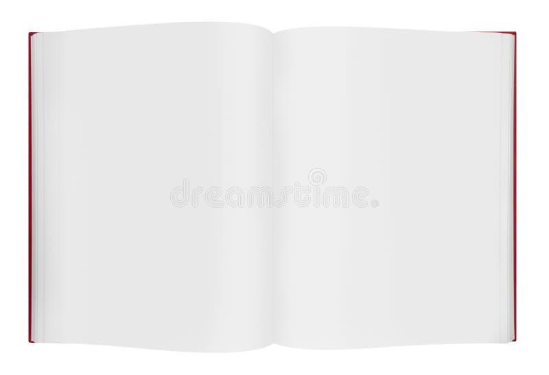 Libro aperto in bianco immagini stock