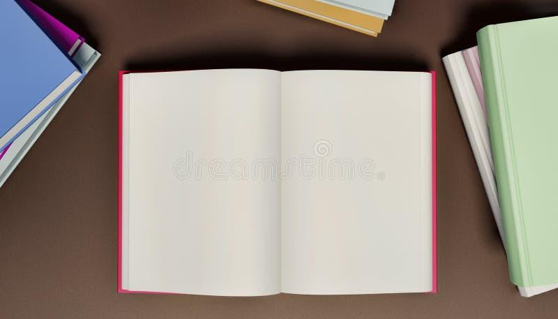 Libro aperto in bianco illustrazione vettoriale