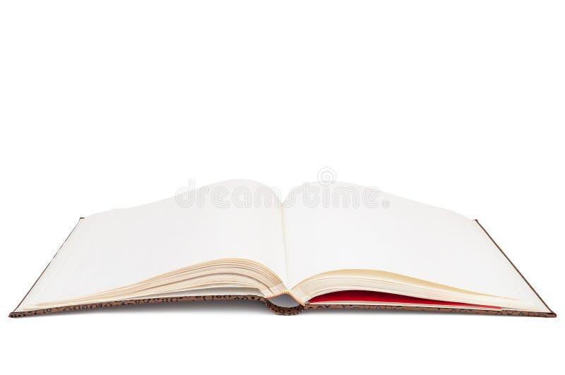 Libro aperto in bianco su fondo bianco immagini stock libere da diritti