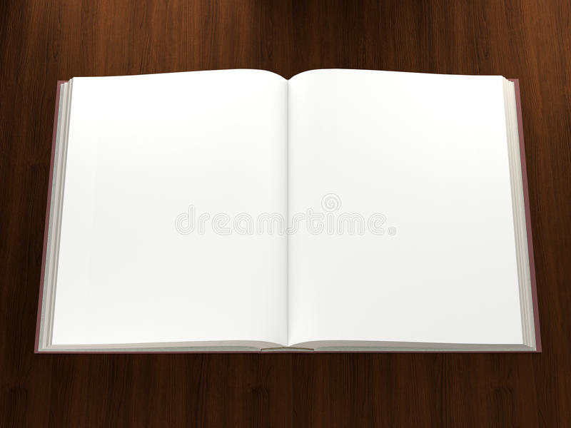 Libro aperto con le pagine in bianco immagine stock