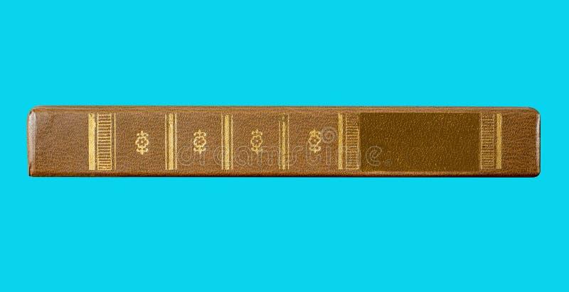 Libro aperto su un fondo blu isolato per progettazione e il decorati fotografia stock libera da diritti