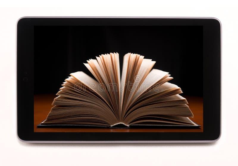 Libreria in computer della tavola fotografia stock libera da diritti