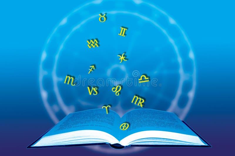 Libro astrologico illustrazione di stock