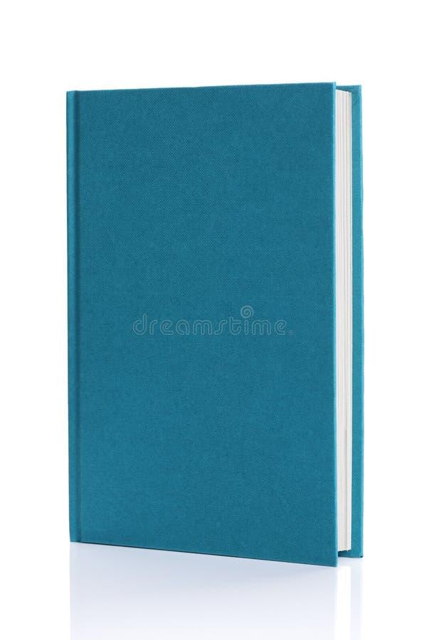 Libro azul en blanco aislado del libro encuadernado fotografía de archivo