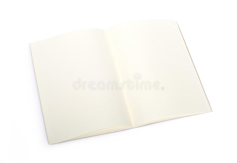 Libro in bianco aperto fotografia stock