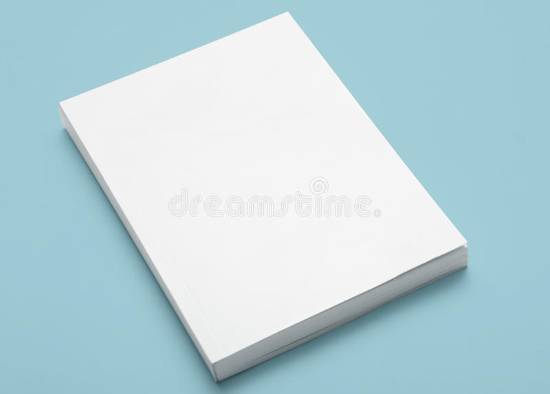 Libro bianco in bianco fotografia stock libera da diritti