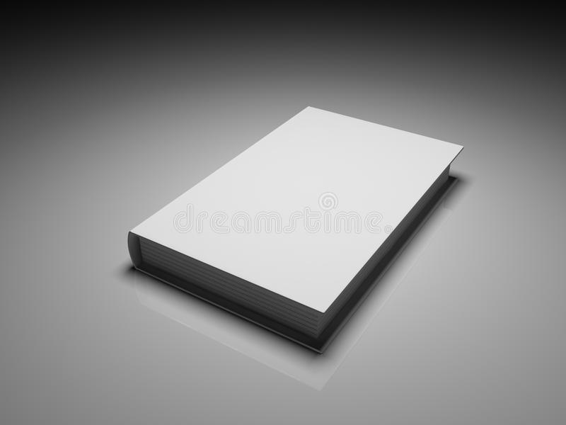 Libro bianco in bianco del coperchio royalty illustrazione gratis
