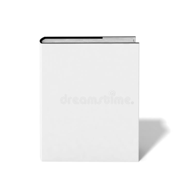 Libro in bianco con il coperchio bianco fotografie stock