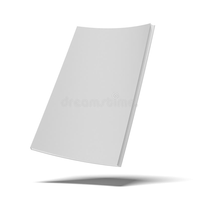 Libro bianco con la copertura molle in bianco illustrazione di stock