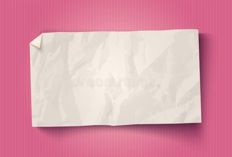 Libro Bianco d'annata di vettore illustrazione di stock