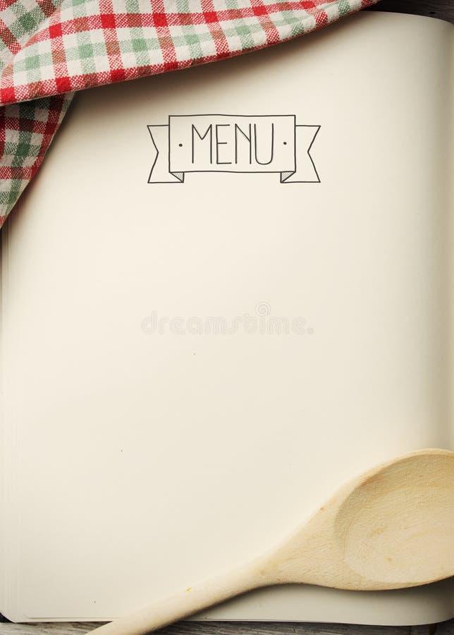 Libro in bianco del menu immagini stock