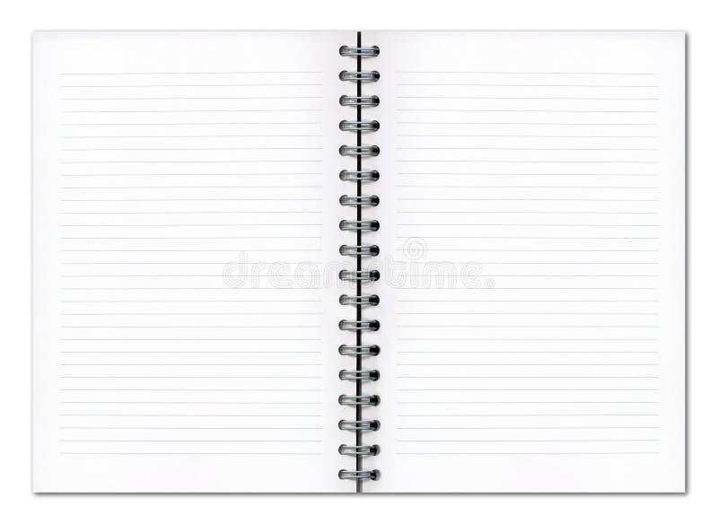 Libro in bianco del pianificatore immagini stock libere da diritti