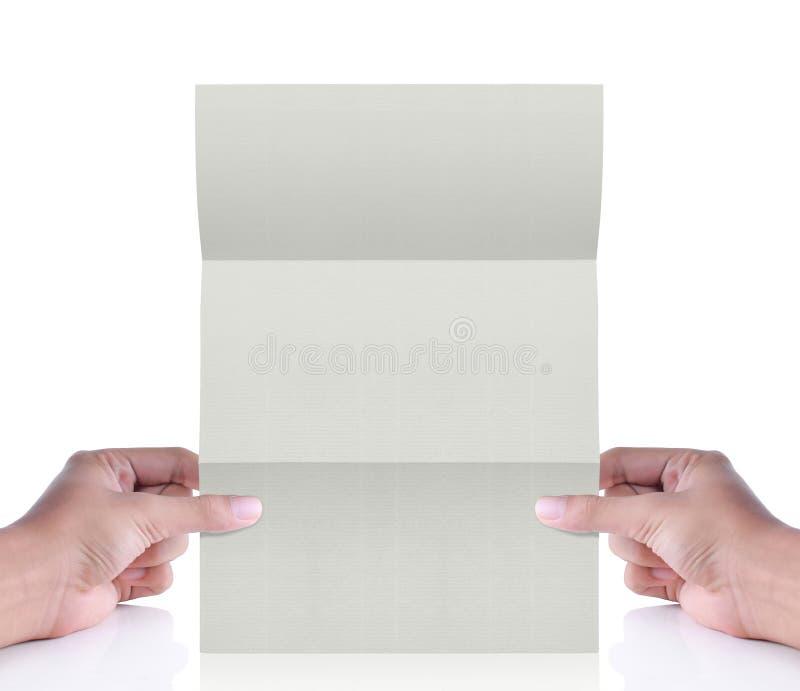 Libro Bianco a disposizione. lettera fotografia stock