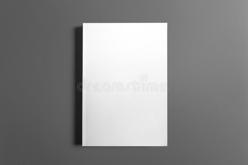 Libro in bianco isolato su grey fotografie stock libere da diritti