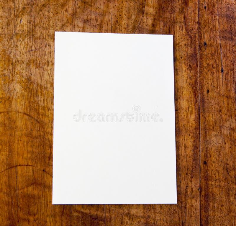 Libro Bianco sulla tabella fotografia stock