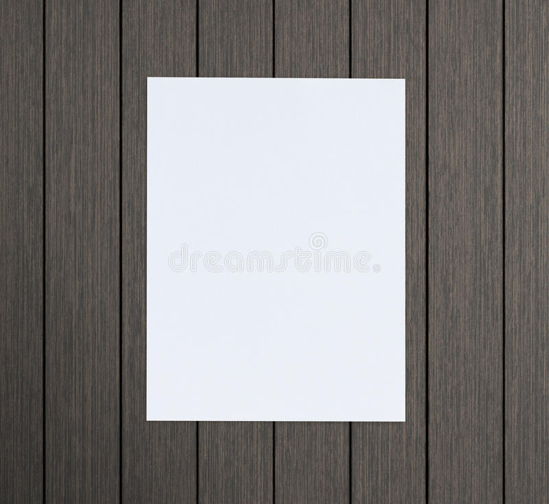 Libro Bianco sulla Tabella di legno di fondo fotografia stock libera da diritti