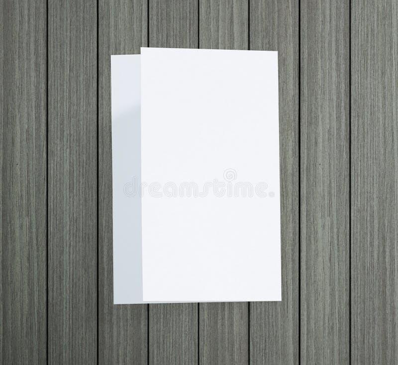 Libro Bianco sulla Tabella di legno di fondo fotografie stock libere da diritti