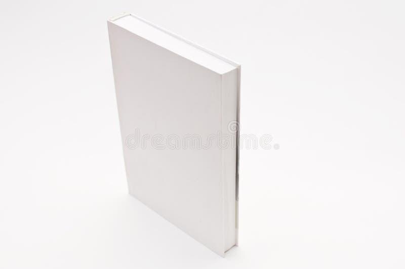 Libro blanco de la cubierta en blanco foto de archivo libre de regalías