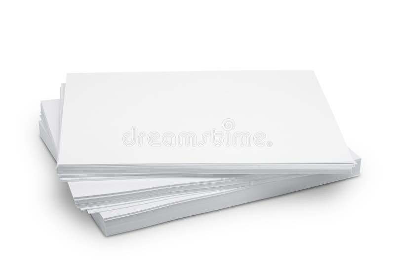 Libro Blanco de la pila fotos de archivo