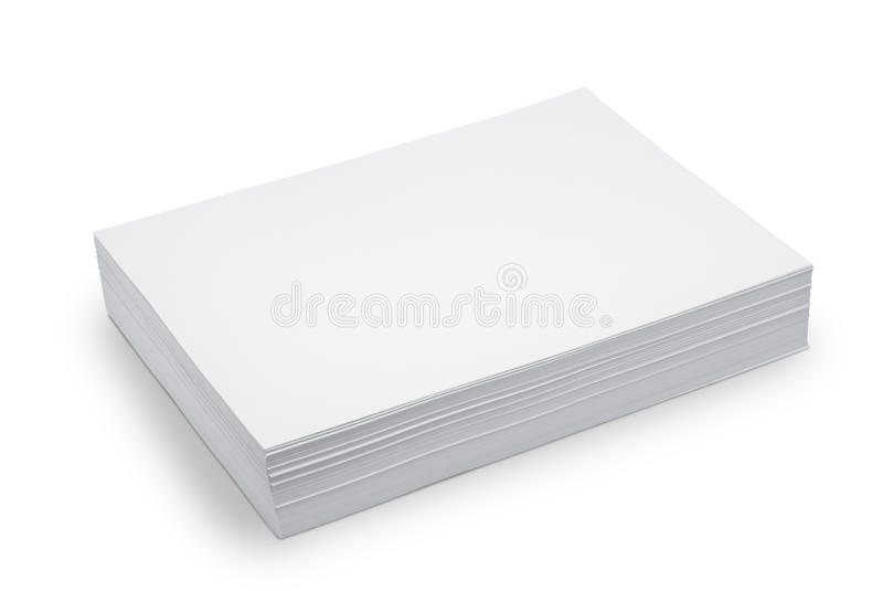 Libro Blanco de la pila fotos de archivo libres de regalías