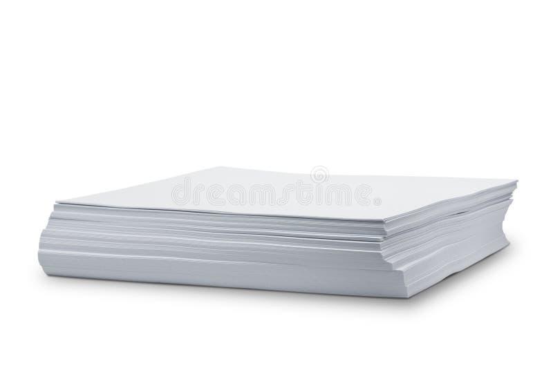 Libro Blanco de la pila imagen de archivo libre de regalías