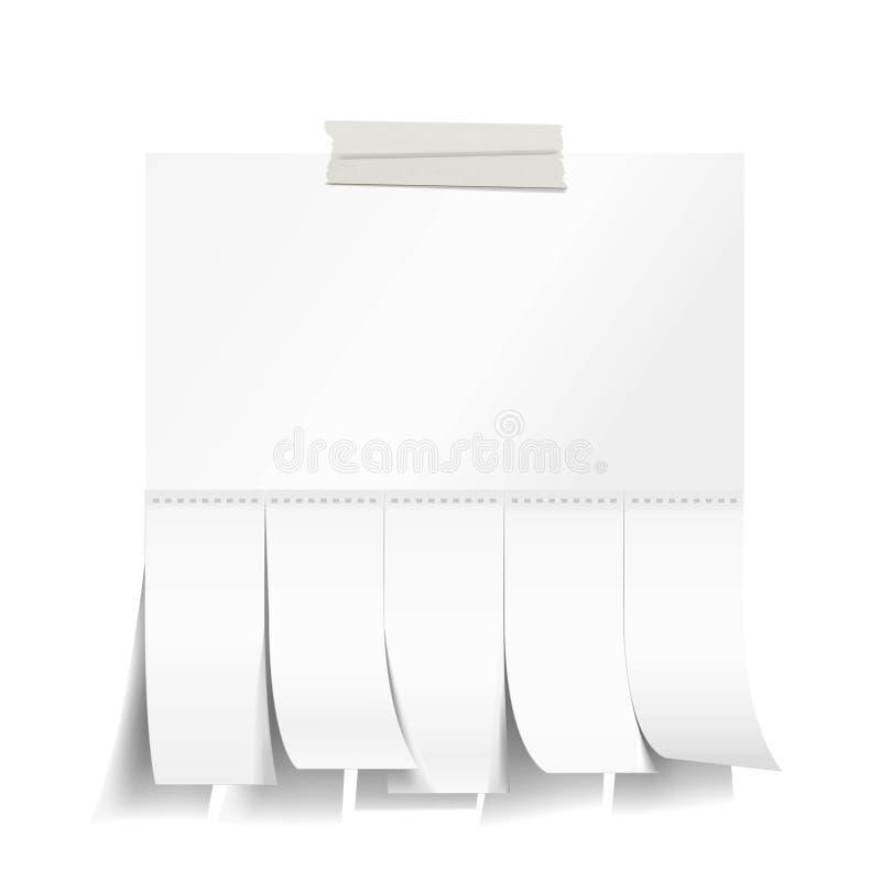 Libro Blanco en blanco con resbalones del corte libre illustration