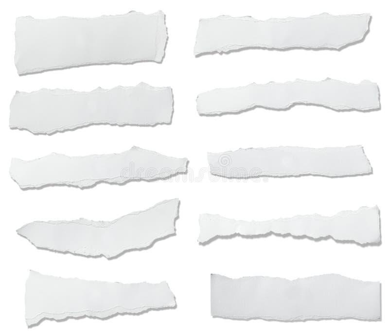Libro Blanco rasgado stock de ilustración