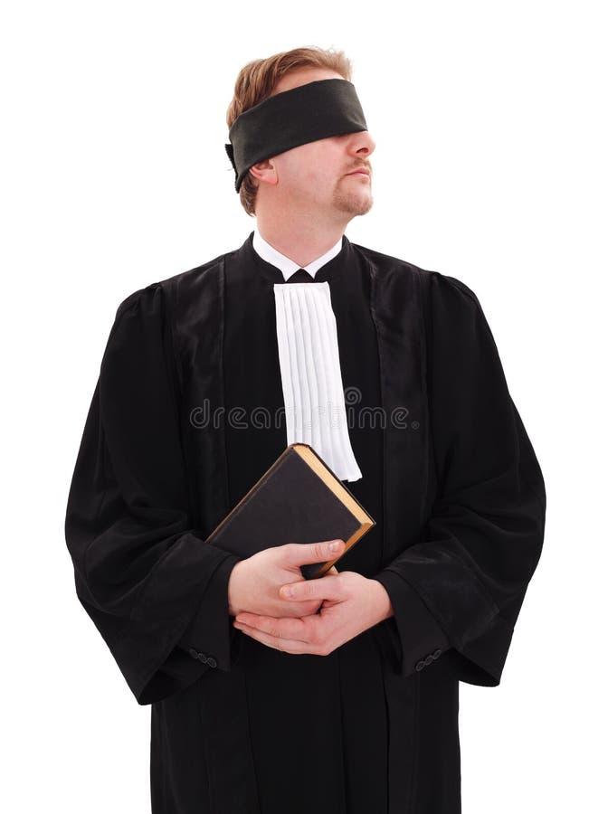 Libro Blindfold della holding dell'avvocato immagine stock libera da diritti