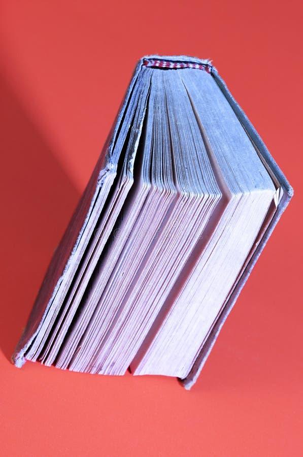 Libro blu fotografie stock