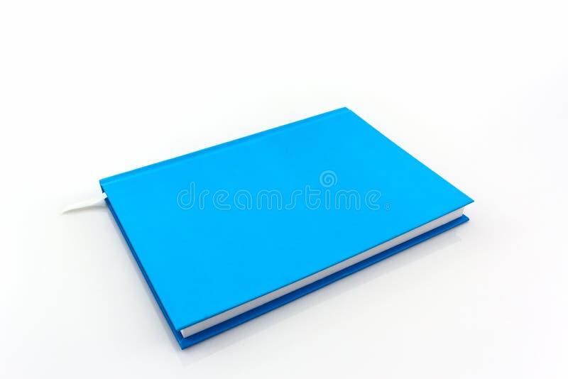 Libro blu del diario fotografia stock