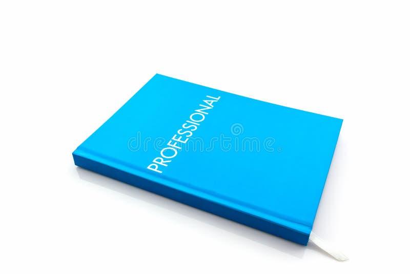 Libro blu del diario con la parola fotografie stock libere da diritti
