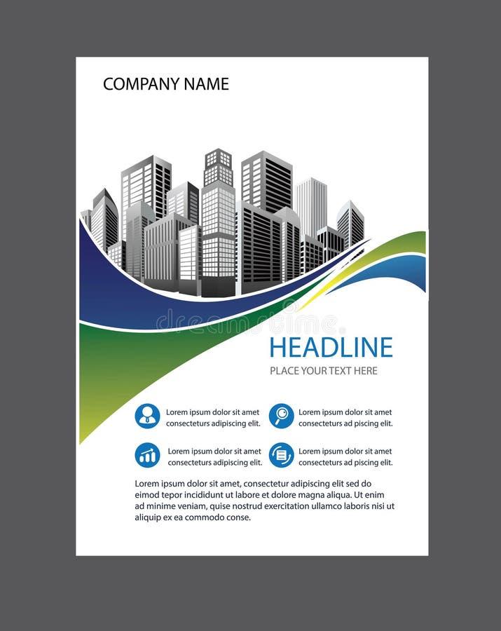 Libro blu della copertura, modello dei businrss dell'opuscolo fotografie stock