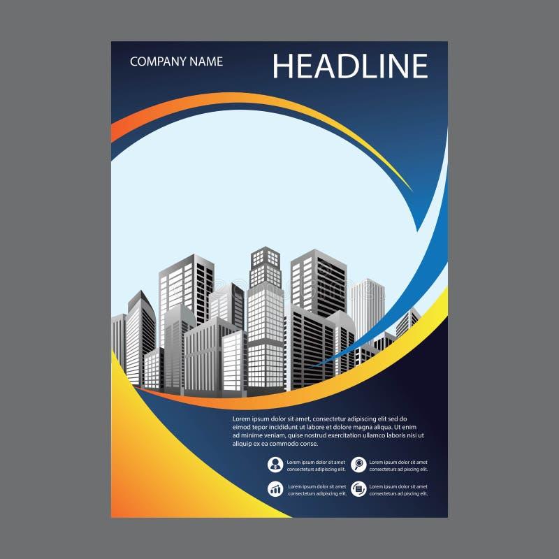 Libro blu della copertura, modello dei businrss dell'opuscolo immagini stock