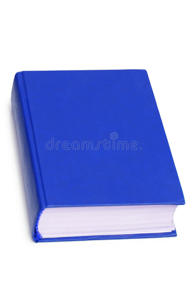 Libro blu isolato immagine stock libera da diritti