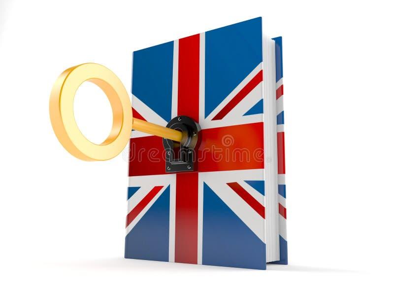 Libro BRITANNICO con la chiave illustrazione di stock