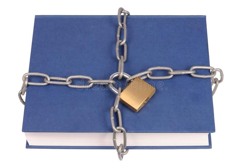 Libro in catene fotografia stock libera da diritti
